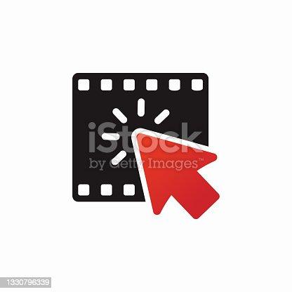 istock Click Movie Logo Template Design 1330796339