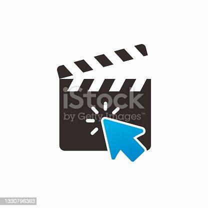 istock Click Movie Logo Template Design 1330796363