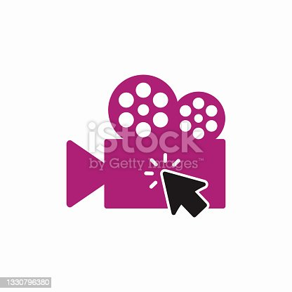 istock Click Movie Logo Template Design 1330796380