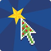 Click on christmas /xmas tree start internet computer star