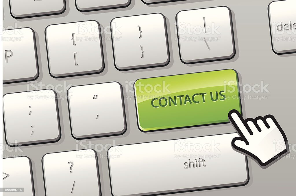 Click to 'contact us' concept royalty-free stock vector art