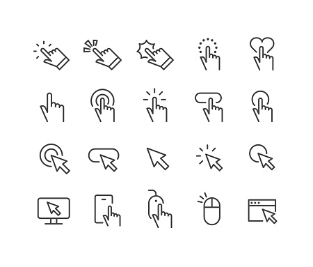Clicking Icons - Classic Line Series