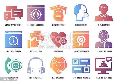 istock Client Acquisition Strategies Vector Icon Pack With Inner Shadow Depth 1204274130