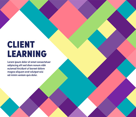 Client Learning Modern & Geometric Vector Illustration