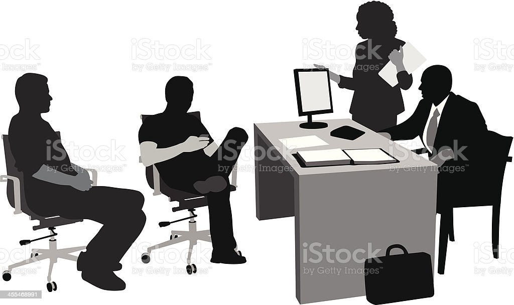 Client Relations Vector Silhouette A-Digit Adult stock vector