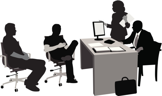 Client Relations Vector Silhouette Stock Illustration - Download Image Now