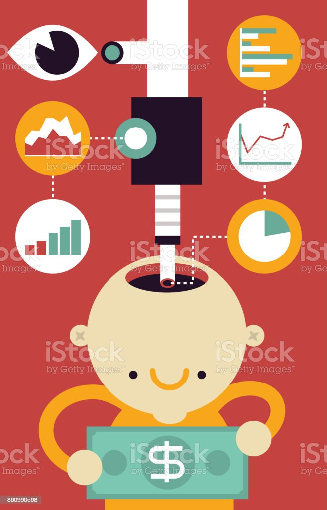 Client Research & Study vector art illustration