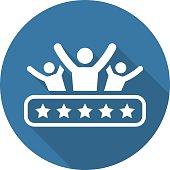 Client Satisfaction Icon. Flat Design.