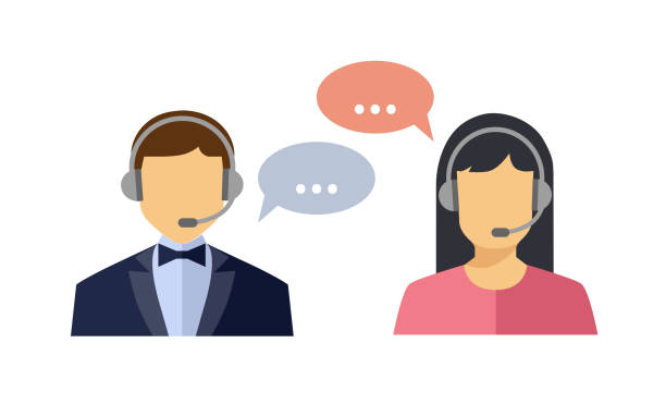 client services - call centre stock illustrations