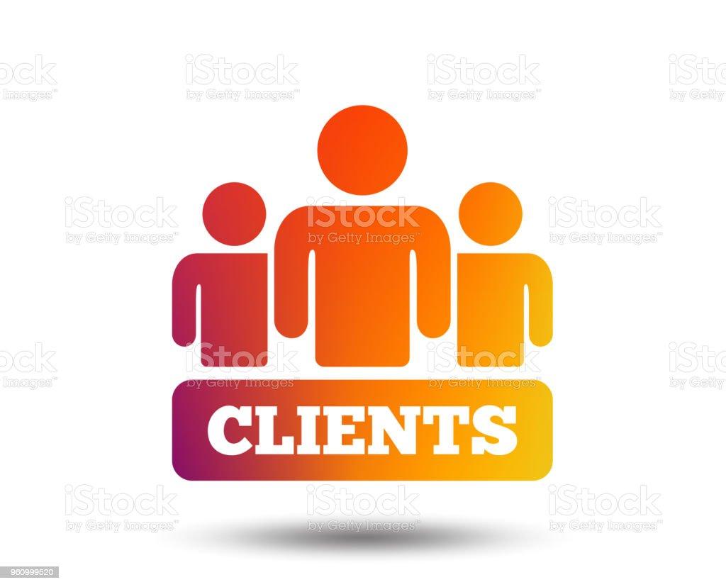 Kunden-Symbol. Gruppe von Menschen-symbol. - Lizenzfrei Abzeichen Vektorgrafik