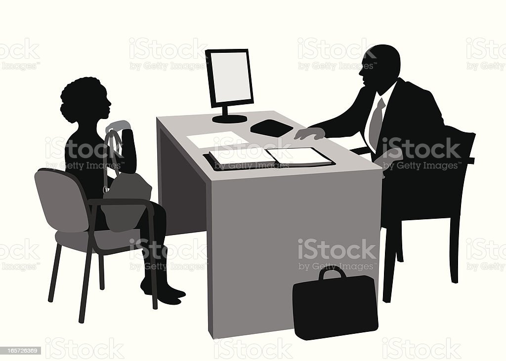 Clients Vector Silhouette royalty-free stock vector art