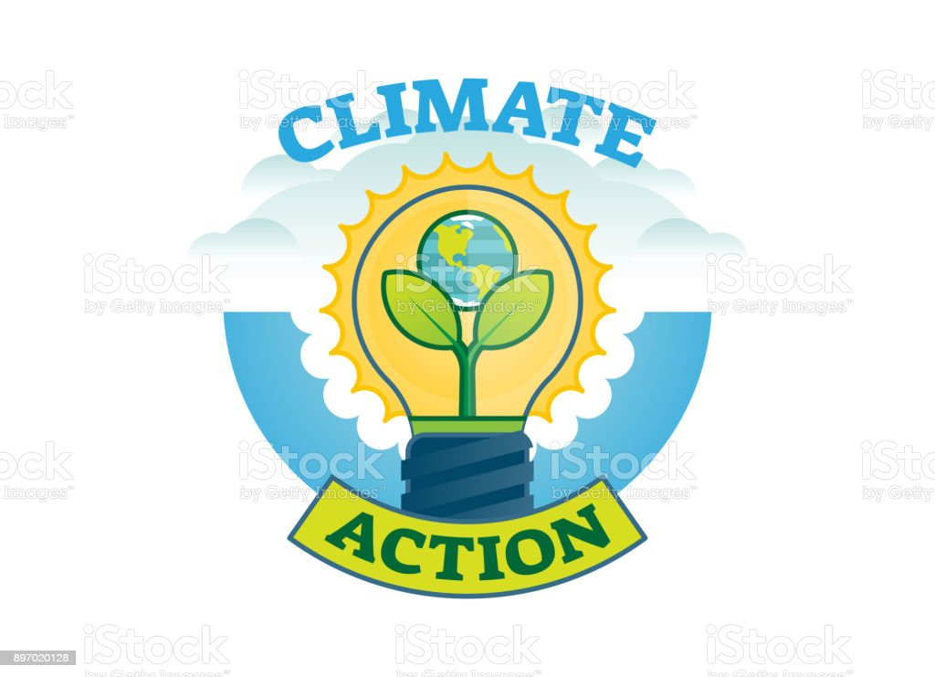 Climate Action Climate Change Movement Vector Symbol Badge Stock