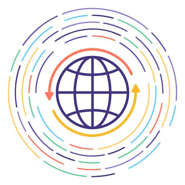 stockillustraties, clipart, cartoons en iconen met klimaat verandering lijn pictogram illustratie - klimaat