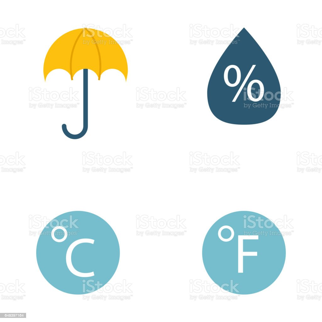 Climate Forecast Weather Symbols Vector Stock Vector Art More