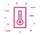Climate outline style icon design with decorations and gradient color. Line vector icon illustration for modern infographics, mobile designs and web banners.