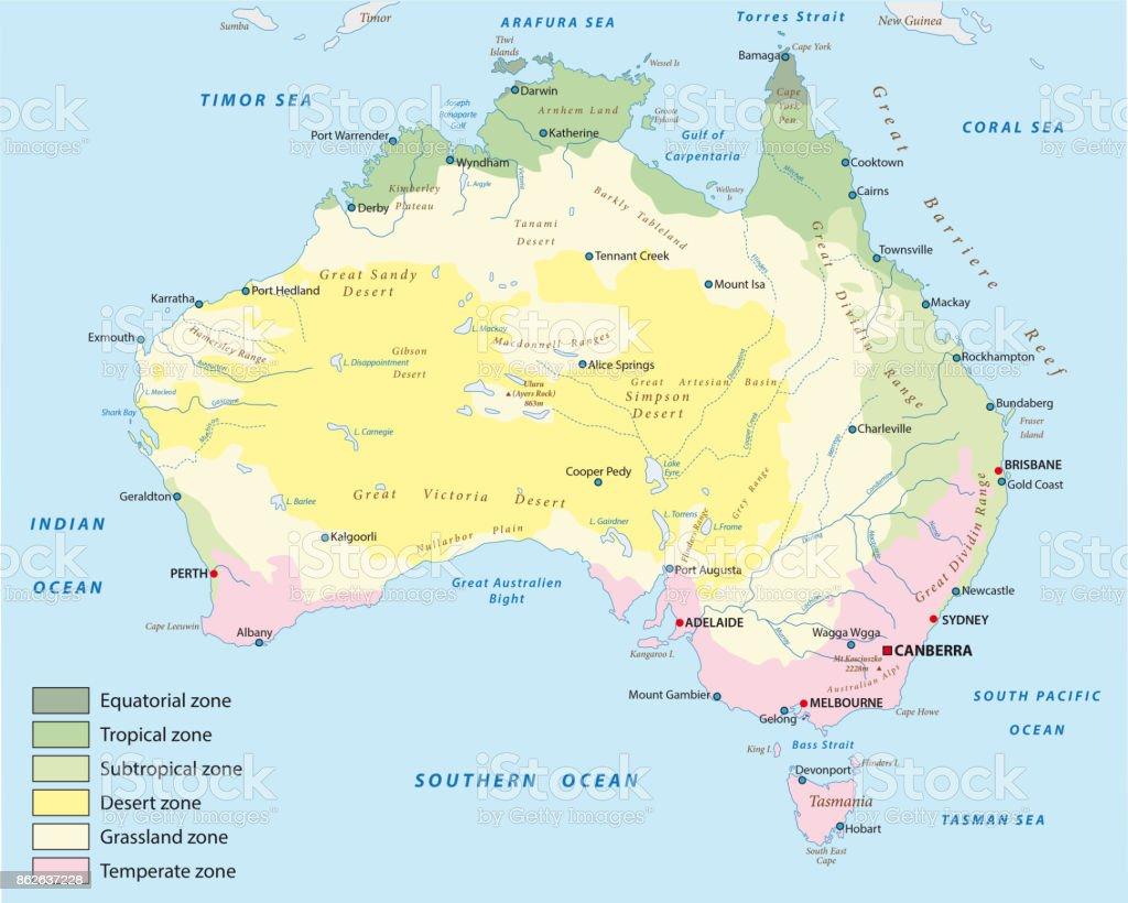 Karta Australien Adelaide.Klimat Karta Over Australien Vektorgrafik Och Fler Bilder Pa
