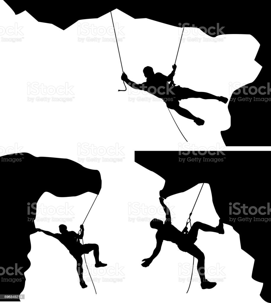 climber in rocks 01 royalty-free climber in rocks 01 stock vector art & more images of activity
