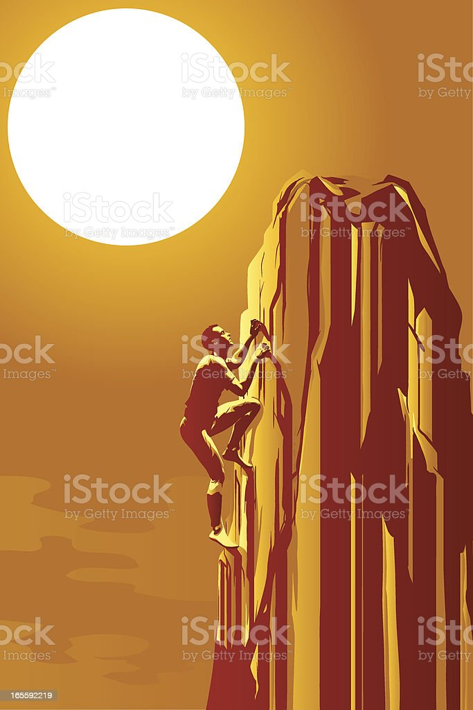 Climber royalty-free stock vector art