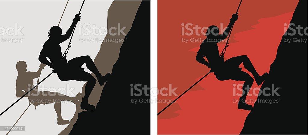 Climber - illustrazione arte vettoriale