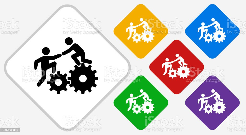 Climbing Gear Color Diamond Vector Icon vector art illustration