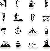 Climbing Icon Set