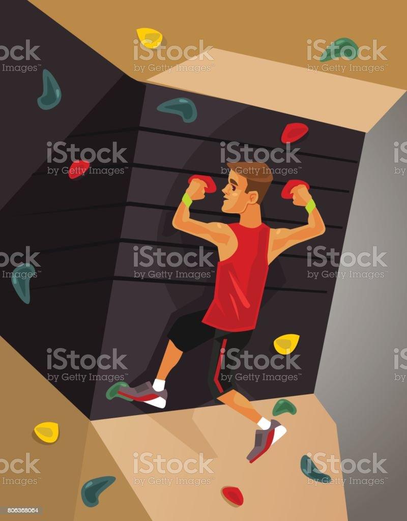 Climbing machine simulator - illustrazione arte vettoriale