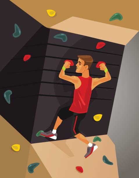 climbing machine simulator - rock climbing stock illustrations, clip art, cartoons, & icons