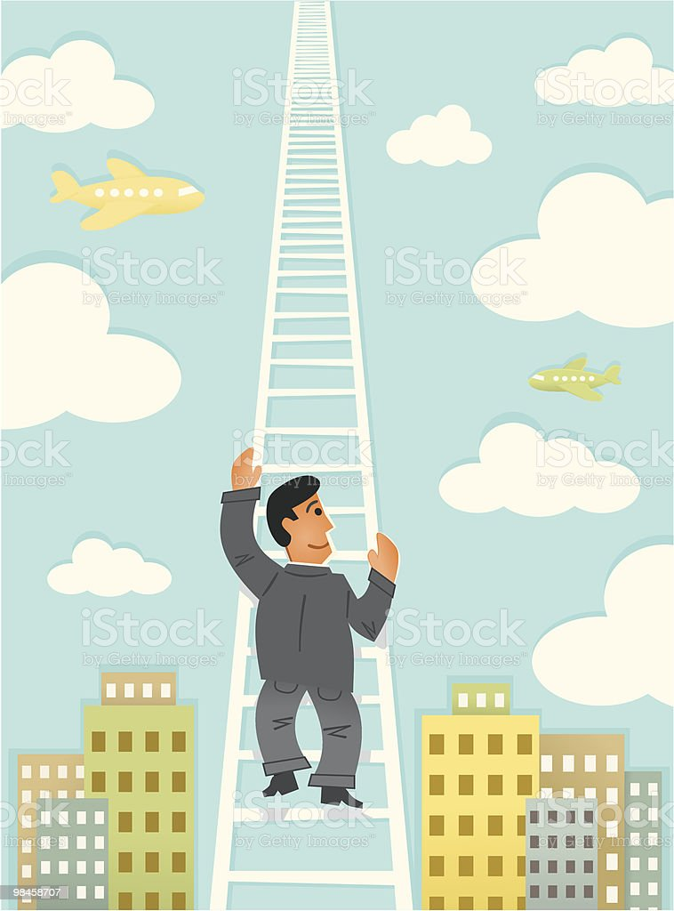 Climbing the Corporate Ladder royalty-free climbing the corporate ladder stock vector art & more images of adult