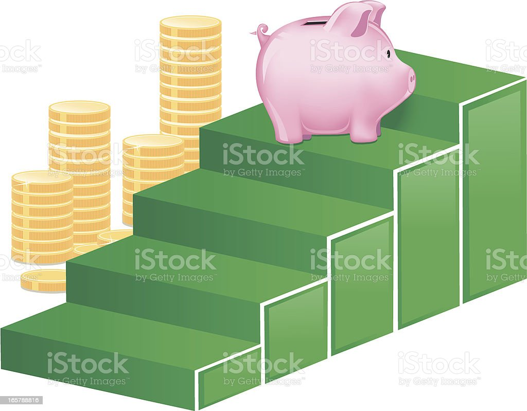 Climbing the Economy Ladder royalty-free stock vector art