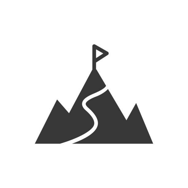 その山に登る。 - challenge点のイラスト素材/クリップアート素材/マンガ素材/アイコン素材