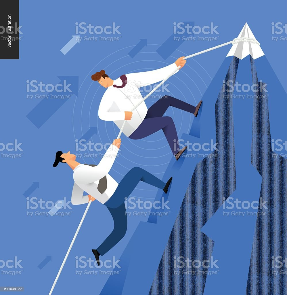 Climbing up, business concept - ilustración de arte vectorial