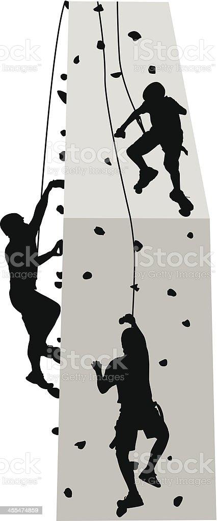 Climbing Wall vector art illustration