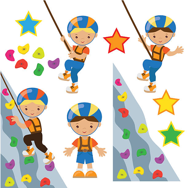 Royalty Free Indoor Rock Climbing Clip Art, Vector Images ...