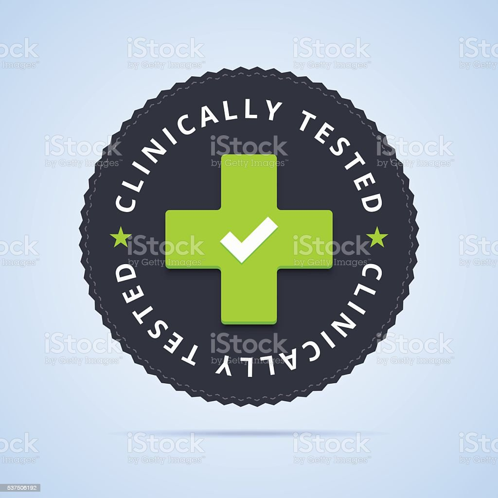 Clinically tested stamp. vector art illustration
