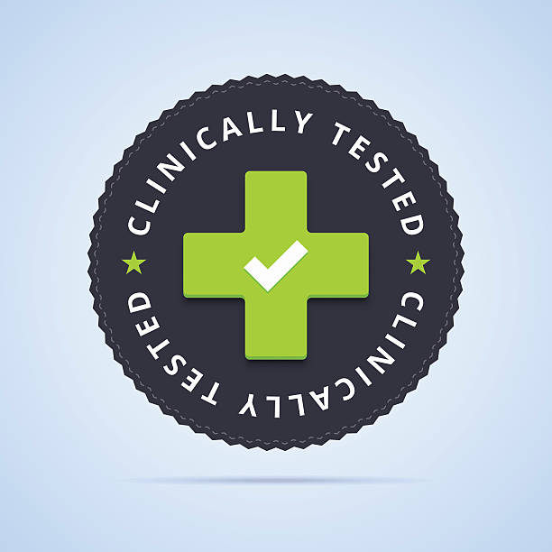 ilustraciones, imágenes clip art, dibujos animados e iconos de stock de clínicamente evaluado de la firma. - dermatología