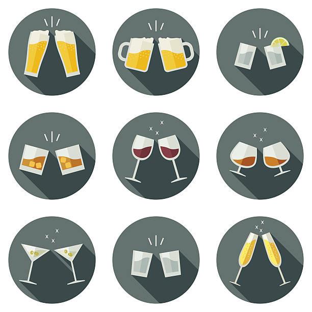 ilustrações, clipart, desenhos animados e ícones de clink óculos ícones. - brinde