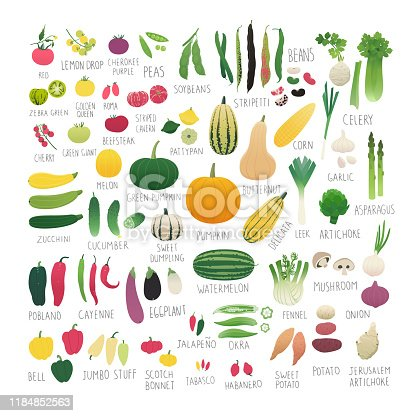 Clip art collection of vegetables