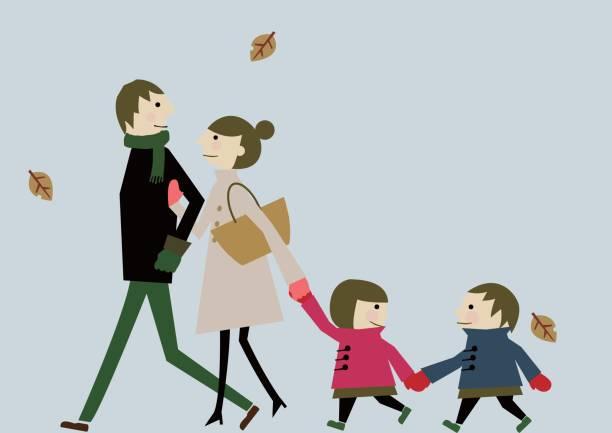初冬のクリップ アート ファミリー - 親族会点のイラスト素材/クリップアート素材/マンガ素材/アイコン素材