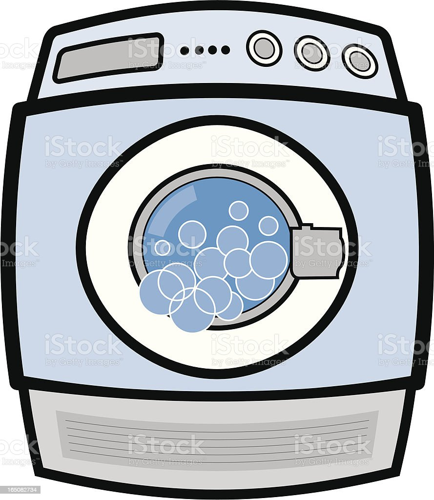 clip art of a washing machine with bubbles stock vector art more rh istockphoto com washing machine clipart black and white fridge washing machine clipart