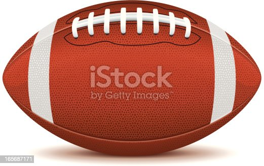 istock Clip art of an American football on a white background  165687171
