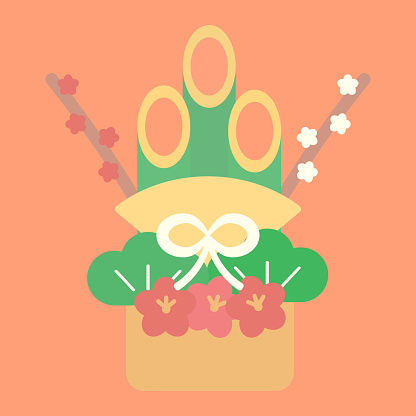 Clip Art Of Simple And Cute Kadomatsu