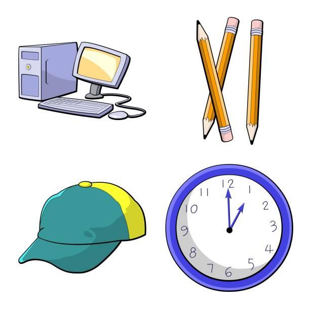ilustraciones, imágenes clip art, dibujos animados e iconos de stock de clip art - wall clock