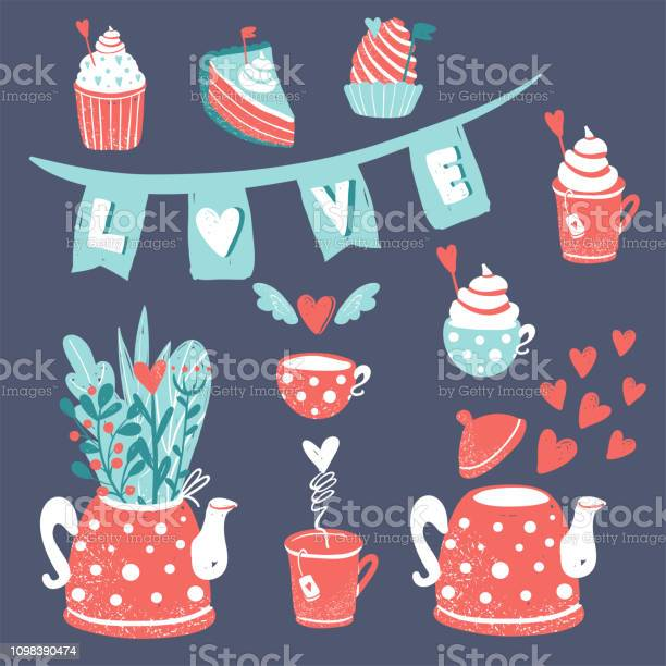 Clipart for valentines day go wedding cute sweets and a teapot with vector id1098390474?b=1&k=6&m=1098390474&s=612x612&h=blatv3rsm8gctgmrrcb4eoletdukx7qmlwcosypo0kg=