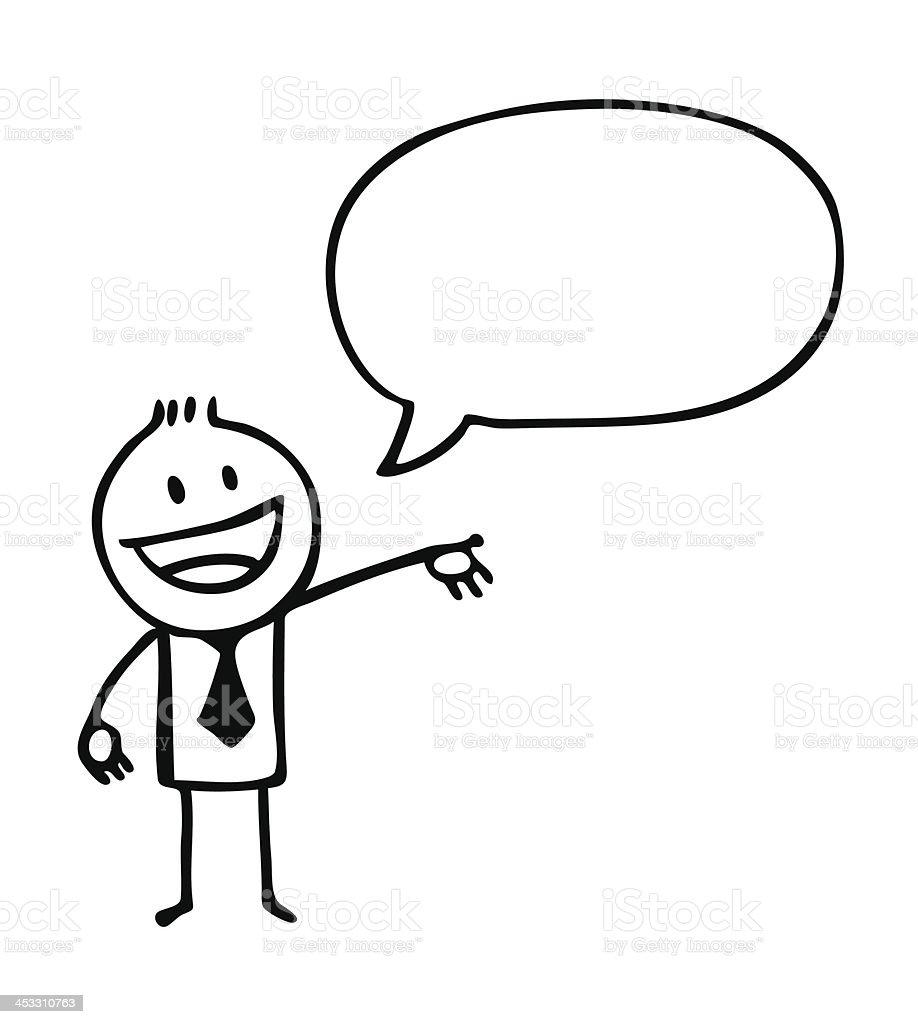 clipart of a boy and a speech bubble stock vector art more images rh istockphoto com speech bubble clipart speech therapy clip art free