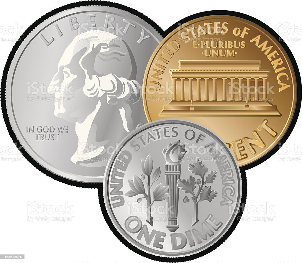 royalty free us coins clip art vector images illustrations istock rh istockphoto com coins clipart png coins clipart black and white