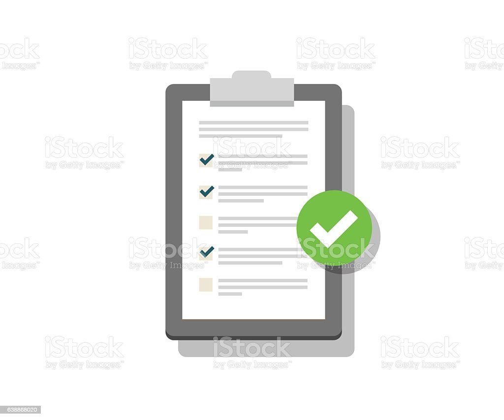 Clipboard and Check Marks vector art illustration