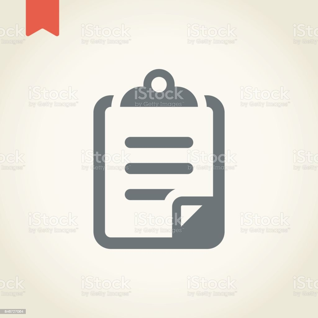Clipboard and pen icon vector art illustration