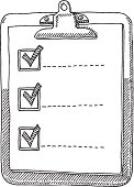 Clipboard Check List Tick Drawing
