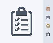 Clipboard & Checklist - Carbon Icons