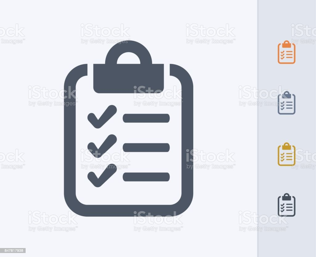Clipboard & Checklist - Carbon Icons vector art illustration